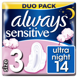 ALWAYS SENS ULTRA NIGHT DUO 12X14
