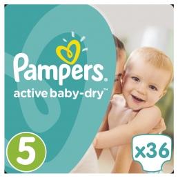 Pampers Active Baby Dry Μέγεθος 5 (11-18kg), 36 Πάνες