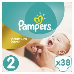 Pampers Premium Care Μέγεθος 2 (3-6kg), 38 Πάνες