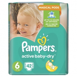 Pampers Active Baby Dry Μέγεθος 6 (15+kg), 42 Πάνες