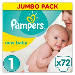 Pampers New Baby Ν.1 (2-5kg, 72 τεμ)