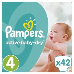 Pampers Active Baby-Dry Μέγεθος 4 (8-16kg), 42 Πάνες