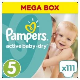 Pampers Πάνες Active Baby-Dry Μέγεθος 5 (Junior) 11-23Kg, 111 Πάνες
