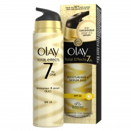Olay Total Effects 7in1 Ενυδατική Κρέμα Ημέρας & Ορός 2σε1 SPF 20 40ml