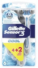 GILLETTE SENSOR 3 COOL 6X(4+2 ΔΩΡΟ) ΕΣ