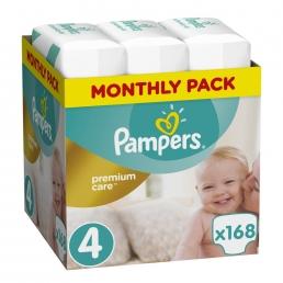 Pampers Premium Care Πάνες Μέγεθος 4 (Maxi) 8-14 kg, 168 Πάνες