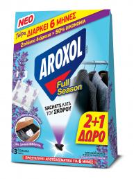 ΕΥΡΗΚΑ AROXOL FULL SEASON ΣΚΟΡΟΚΤΟΝΟ SACHETS (2+1 ΔΩΡΟ)