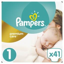 Pampers Premium Care Μέγεθος 1 (2-5kg), 41 Πάνες
