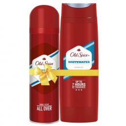 Old Spice Deo Spray Whitewater αποσμητικό 150ML + Old Spice Shower Gel Whitewater 400ML