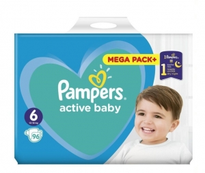 PAMPERS ACTIVE BABY MEGA PACK  ΜΕΓ 6 (13-18 kg), 96 ΠΑΝΕΣ