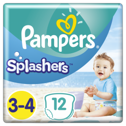 PAMPERS SPLASHERS CP ΜΕΓ 3-4 (6-11kg), 12ΤΕΜ.