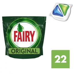 Fairy All in One Original Ταμπλέτες Πλυντηρίου Πιάτων 22 ανά συσκευασία