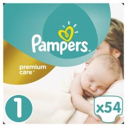 Pampers Premium Care Μέγεθος 1 (2-5kg), 54 Πάνες