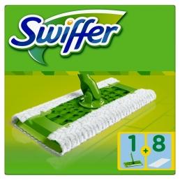 Swiffer έτοιμη σκούπα + 8 ανταλλακτικά πανάκια