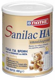 Γιώτης Sanilac HA Υποαλλεργικό Βρεφικό Γάλα 400gr