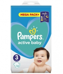 PAMPERS ACTIVE BABY ΜΕΓ 3 1X152 MP+