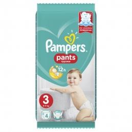 Pampers Pants Μέγεθος 3 (6-11kg), 4Πάνες-βρακάκι