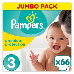 Πάνες Pampers New Baby Midi N. 3 (5-9kg, 66 τεμ)