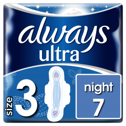 Always Σερβιέτες Ultra Night 100% protection (7 τεμ)
