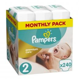 Pampers Premium Care Πάνες Μέγεθος 2 (Mini) 3-6 kg, 240 Πάνες