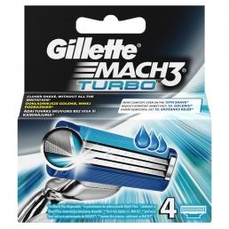 Gillette Mach3 Turbo Aνταλλακτικά 4τεμ