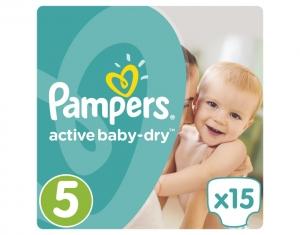 Pampers Active Baby Dry Μέγεθος 5 (11-18kg), 15 Πάνες