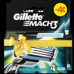 Gillette Mach3 Aνταλλακτικά 4τεμ (1+1 -4€)