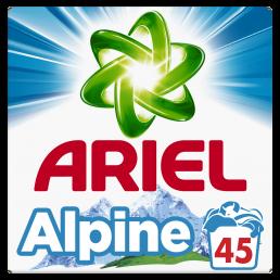 Απορρυπαντικό Ariel σκόνη Alpine 45 Μεζούρες