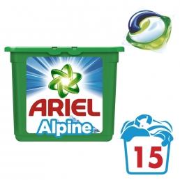 Κάψουλες Ariel Pods 3σε1 Alpine - 15 Κάψουλες