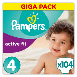Πάνες Pampers Active Fit Maxi Ν. 4 (8-16kg, 104 τεμ)