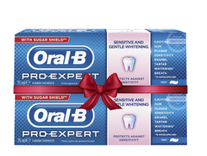 ORAL-B PRO-EXPERT SENSITIVE & WHITENING  75ML (1+1 Δώρο)