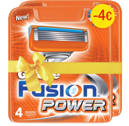 Gillette Fusion Power Aνταλλακτικά 4τεμ (1+1 -4€)