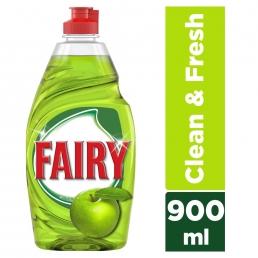 Fairy Clean & Fresh με άρωμα Μήλου υγρό πιάτων 900ml