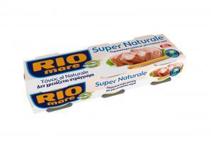 RIO MARE ΤΟΝΟΣ SUPER NATURALE 3X56GR