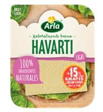 ARLA HAVARTI LIGHT 16% ΦΕΤΕΣ 150gr + 25gr Δώρο