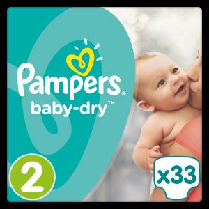 Pampers Baby Dry Μέγεθος 2 (3-6kg), 33 Πάνες