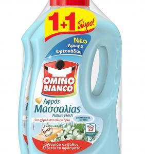 OMINO BIANCO ΑΦΡΟΣ ΜΑΣΣΑΛΙΑΣ NAT FRESH 1,5LT (1+1 ΔΩΡΟ) ΝΕΟ