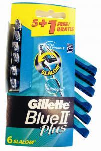 ΞΥΡΑΦΑΚΙΑ GILLETTE BLUEII PLUS SLALOM SENSITIVE SKIN (5ΤΕΜΑΧΙΑ+1ΔΩΡΟ)