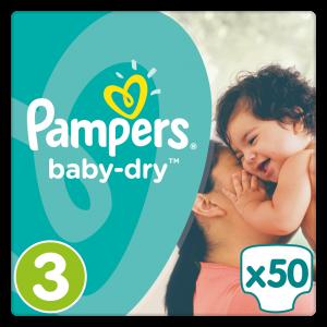 Πάνες Pampers Baby Dry Midi Ν. 3 (4-9kg, 50 τεμ)