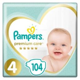 Pampers Premium Care Μέγεθος 4 (8-14kg), 104 Πάνες