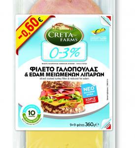 CRETA FARMS COMBI 0-3% ΦΙΛΕΤΟ ΓΑΛΟΠΟΥΛΑ & EDAM Μ.Λ. 360gr -0,60€