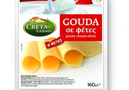 CRETA FARMS ΤΥΡΙ GOUDA ΦΕΤΕΣ 160gr