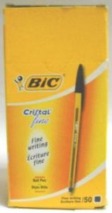BIC ΣΤΥΛΟ CRISTAL FINE08 ΜΑΥΡΟ BOX50