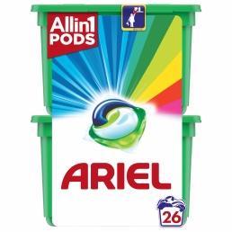 Ariel Allin1 PODs Touch Of Lenor Fresh Color Κάψουλες Πλυντηρίου - 30 Κάψουλες (15+15 δώρο)