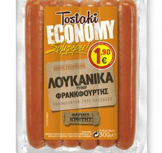 CRETA FARMS TOSTAKI ECONOMY ΛΟΥΚΑΝΙΚΑ ΦΡΑΝΚΦΟΥΡΤΗΣ 300gr