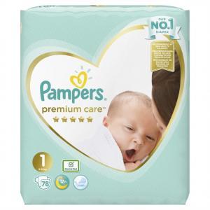 Pampers Premium Care Newborn (2-5kg), 78 Πάνες