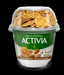 Danone Activia Τραγανή Απόλαυση με Μέλι & Αμύγδαλα 180gr