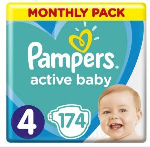 PAMPERS ACTIVE BABY ΜΕΓ 4 1X174 MSB