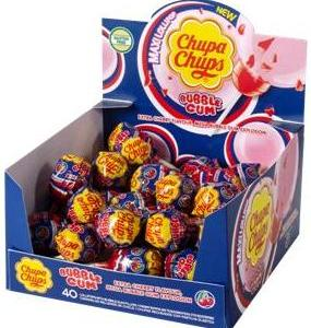 CHUPA CHUPS BUBBLE GUM 40 DISPLAY
