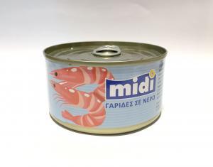 MIDI ΓΑΡΙΔΕΣ ΣΕ ΝΕΡΟ  48x185gr